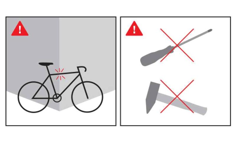 【癮單車提醒】小心碳纖車架受損